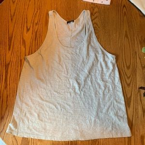 Theory White Tank Racerback Tank Top - Large